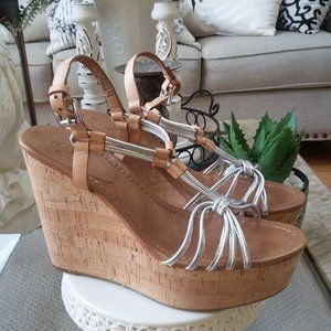 NWOB! GEORGINA Strappy CORK Wedge SANDALS By COACH